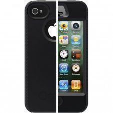 Чехол для iPhone 4/4S OtterBOX черный, в комплекте самоклеющаяся пленка (APL1-I4SUN-20-E4OTR_B)