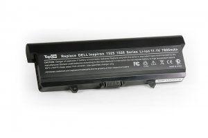 Аккумуляторная батарея для DELL Inspiron 1525 6600mAh 11.1V черная Совместимые артикулы: 0CR693 0F965N 0GW240 0GW241 0GW252 0HP277 0HP297 0RN873 0RU573