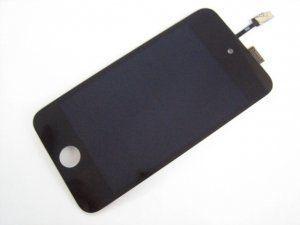 Дисплей (экран) iPod Touch 4th 4 Gen 4-го поколения включая тачскрин и черное защитное стекло Бесплатная доставка Почтой России для частных клиентов!