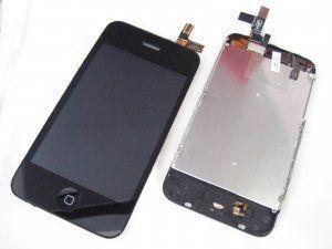 Дисплей (экран, матрица) iPhone 3GS включая тачскрин, черное защитное стекло и рамку Бесплатная доставка Почтой России для частных клиентов! Новый Гарантия