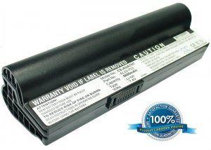 Высококачественная совместимая аккумуляторная батарея повышенной ёмкости для ASUS Eee PC 701SD 5200mAh 7.4V черная