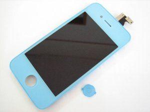 Дисплей (экран) iPhone 4 включая тачскрин и голубое защитное стекло Новый 23-07-2018