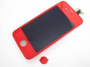 Дисплей iPhone 4 включая тачскрин и красное защитное стекло Бесплатная доставка Почтой России для частных клиентов! Новый 23-07-2018