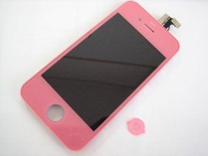 Дисплей iPhone 4 включая тачскрин и розовое защитное стекло Бесплатная доставка Почтой России для частных клиентов! Новый 23-07-2018