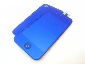 Дисплей iPhone 4 включая тачскрин, зеркально-синее защитное стекло и заднюю крышку Бесплатная доставка Почтой России для частных клиентов! Новый 23-07-2018