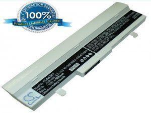 Высококачественная совместимая аккумуляторная батарея для ASUS Eee PC 1001HA 6600mAh 10.8V белая Совместима со следующими моделями: ASUS 0B20-00KA0AS