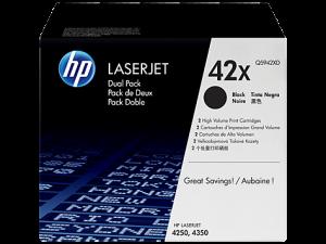 Тонер-картридж Q5942XD HP Black Dual Pack для LJ 4250/4350 (2x20000 стандартных страниц согласно ISO/IEC 19752)