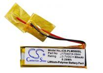 Высококачественная совместииая аккумуляторная батарея 1704018-0944 для гарнитуры Plantronics M50 80mAh 3.7V Совместимые артикулы: 1704018-0944 CS-PLM500SL