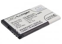 Высококачественная совместимая аккумуляторная батарея BL-5J для Doro Primo 365, Explay TV240, Nokia 5230, 5235, 5800, 5900, Asha 200, 302, C3-00, Lumia 520, 525, 530, N900, X1-00, X1-01, X6, Skylink Duos 1350mAh 3