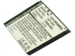 Аккумулятор совместимый BP-6M для Nokia 3250 700mAh батарея