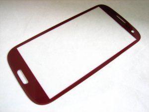 Защитное стекло Samsung Galaxy S3 III GT-i9300 красное Бесплатная доставка Почтой России для частных клиентов! Новое 23-07-2018