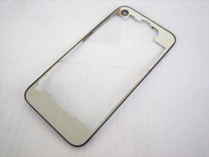 Задняя крышка iPhone 4 прозрачная с черной рамкой
