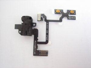 Шлейф наушника iPhone 4 включая мембрану регулировки громкости