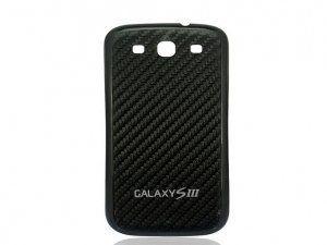 Задняя крышка Samsung Galaxy S3 III GT-i9300 черный Carbon Fiber