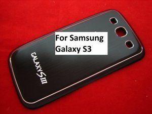 Задняя крышка Samsung Galaxy S3 III GT-i9300 черный Metal Black
