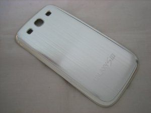 Задняя крышка Samsung Galaxy S3 III GT-i9300 Metal Silver серебристая