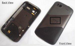 Задняя крышка HTC Sensation Z710e G14 черная Бесплатная доставка Почтой России для частных клиентов! Новая 23-08-2016