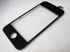 Защитное стекло с тачскрином (сенсорным стеклом) для iPhone 4 с рамкой (без дисплея) Бесплатная доставка Почтой России для частных клиентов! Новое Гарантия